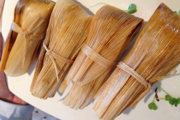 Tamales at Caracol. (Photo: Greg Morago)