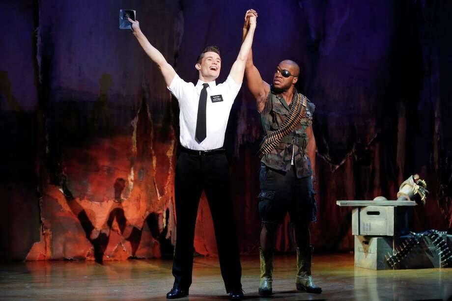 Mark Evans, Derrick Williams THE BOOK OF MORMON First National Tour (c) Joan Marcus, 2013 Photo: ©2012 Joan Marcus / ©2013, Joan Marcus