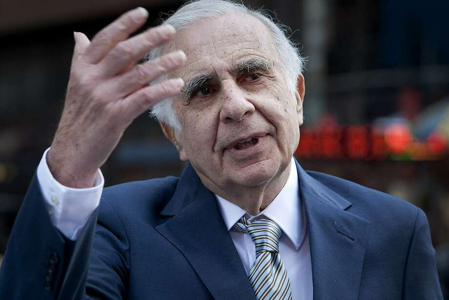Carl Icahn, billionaire investor and chairman of Icahn Enterprises Holdings LP, talks outside of the Nasdaq MarketSite in New York, U.S., on Tuesday, March 27, 2012. Icahn announced his intention last month to offer $30 a share and give CVR Energy Inc. holders a right to as much as an additional $7 a share, a proposal that values the company at at least $2.6 billion, according to Bloomberg calculations. Photographer: Scott Eells/Bloomberg  Carl Icahn, billionaire investor and chairman of Icahn Enterprises Holdings LP, talks outside of the Nasdaq MarketSite in New York, U.S., on Tuesday, March 27, 2012. Icahn announced his intention last month to offer $30 a share and give CVR Energy Inc. holders a right to as much as an additional $7 a share, a proposal that values the company at at least $2.6 billion, according to Bloomberg calculations. Photographer: Scott Eells/Bloomberg *** Local Caption *** Carl Icahn Photo: Scott Eells, Bloomberg