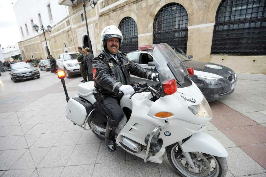 A closer look at the BMW R1200RT, this one belongs to the Tunisian police. Photo: FETHI BELAID, AFP/Getty Images / 2012 AFP