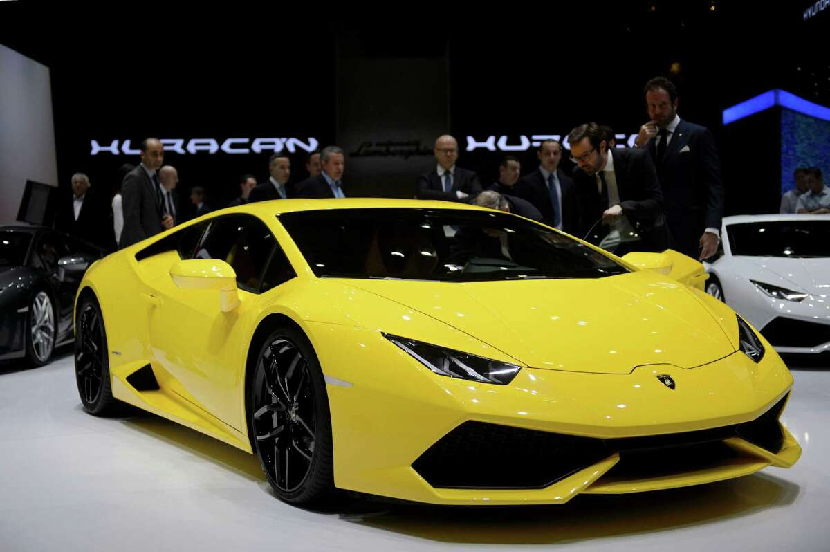 The new Lamborghini Huracan is is on display at the 84. Geneva International Motor Show in Geneva, Switzerland, Tuesday, March 4, 2014.
