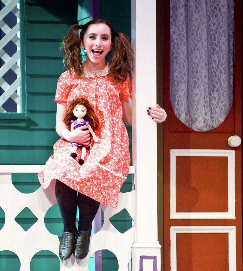 "Amy Stoogenke in song as Tootie Smith during Ridgefield High School's ""Meet Me in St. Louis"" musical dress rehearsal. Monday, March 3, 2014 Photo: Scott Mullin / The News-Times Freelance"