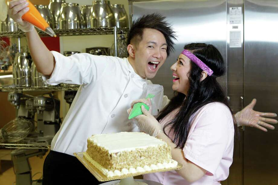 Averille Asprec and Jessica Mendoza are pastry chefs with a growing catering bakery, Thirteen. Photo: Melissa Phillip, Staff / © 2014  Houston Chronicle