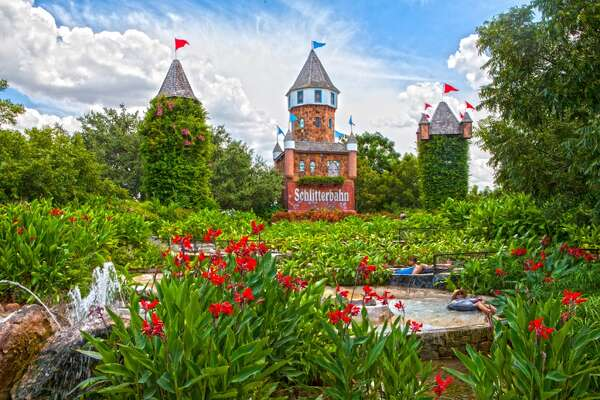 """The name Schlitterbahn is a combination of the German words """"schlitter,"""" meaning """"slippery,"""" AND """"bahn,"""" meaning """"road,"""" and was intended as a nod to the German heritage of its host city New Braunfels."""