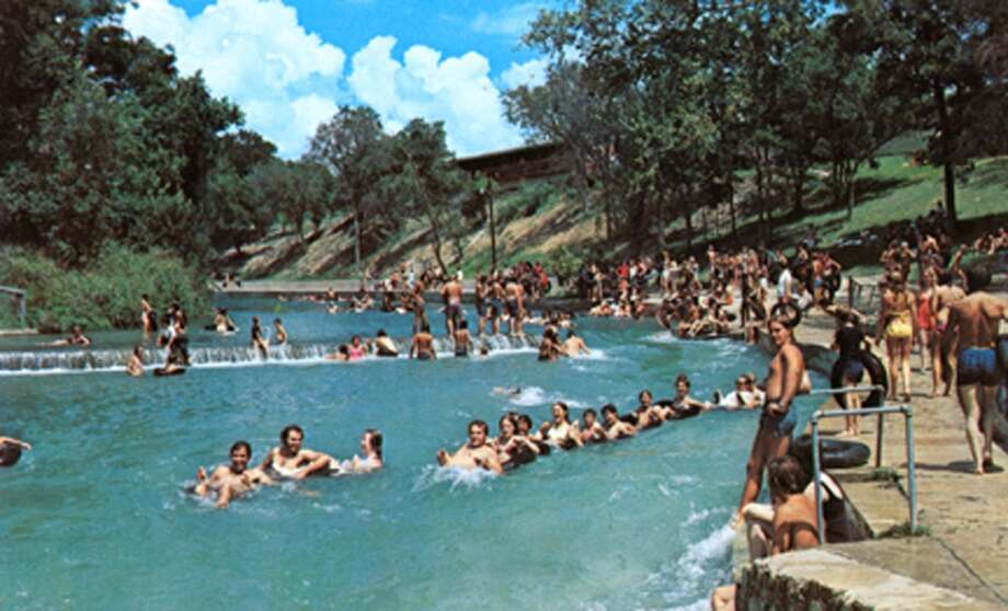 Schlitterbahn's signature Blastenhoff section was built in 1996 on the grounds of Camp Warnecke.