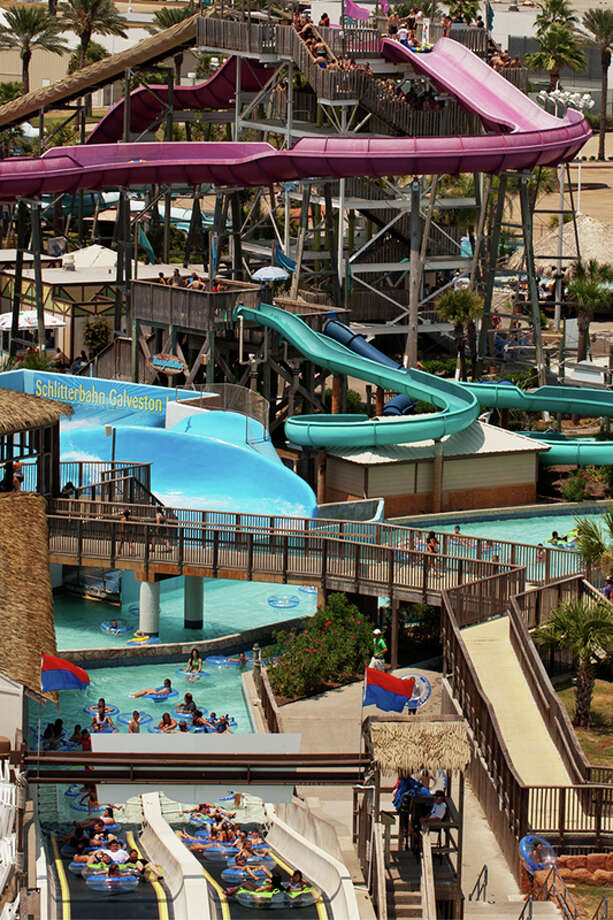 Though not open every day, the Schlitterbahn park on South Padre Island is open 12 months out of the year thanks to its heated indoor pools. The Galveston location seen here is open part of every month but February.