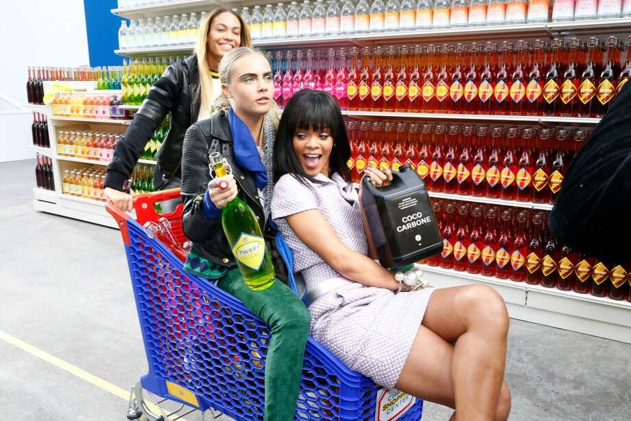 Cart party at the Chanel grocery store. VIPs only. Photo: Bertrand Rindoff Petroff, Getty Images
