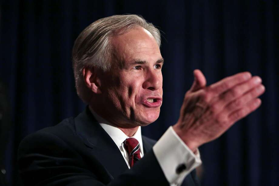 Greg Abbott talks to supporters in San Antonio after winning the Republican gubernatorial primary Tuesday night. Photo: Shelby Tauber, Associated Press
