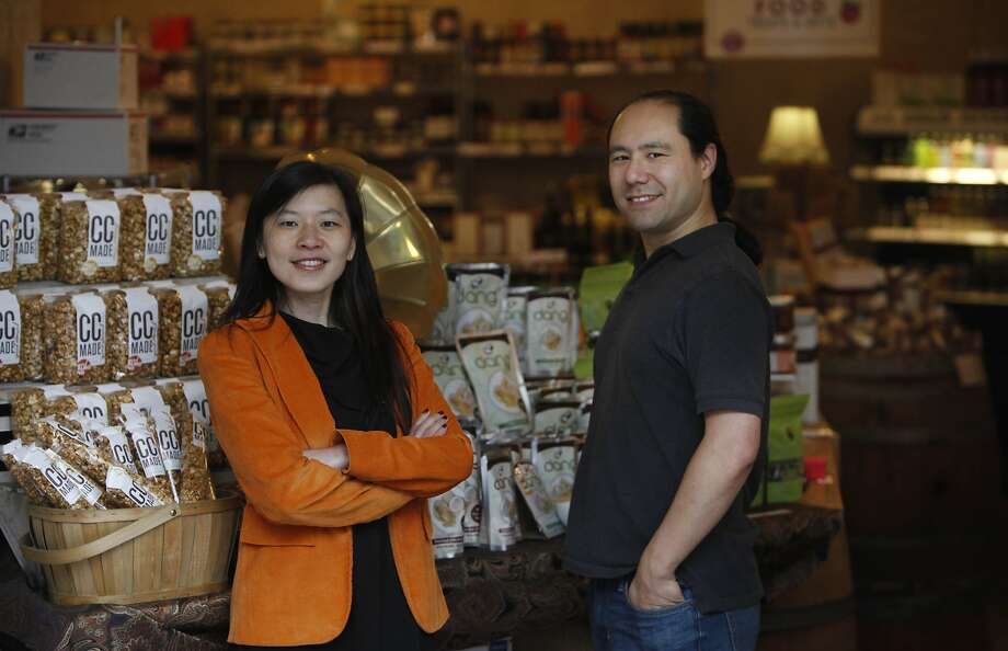 Through Buyer's Best Friend, Adam Sah and Joyce Guan connect suppliers to retailers via a website that offers 150,000 products. Photo: Lea Suzuki, The Chronicle
