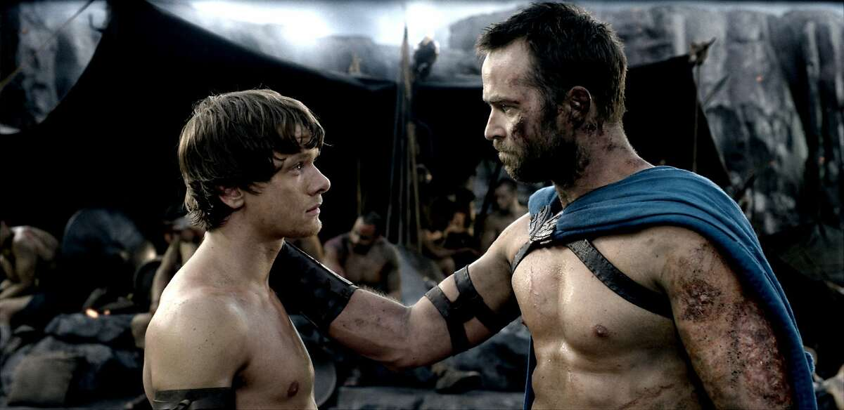 (L-r) JACK O'CONNELL as Calisto and SULLIVAN STAPLETON as Themistokles in Warner Bros. Pictures' and Legendary Pictures' action adventure