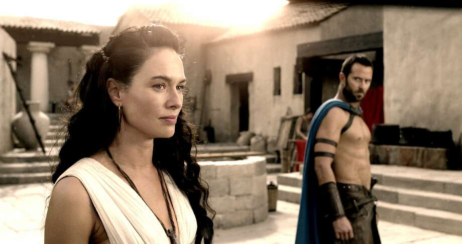 "(L-r) LENA HEADEY as Queen Gorgo and SULLIVAN STAPLETON as Themistokles in Warner Bros. Pictures' and Legendary Pictures' action adventure ""300: RISE OF AN EMPIRE,"" a Warner Bros. Pictures release. Photo: Courtesy Of Warner Bros. Picture"