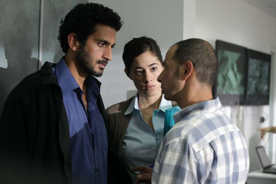"Tsahi Halevi (left) is Razi, an Israeli Secret Service officer, with Efrat Shnap as Maya and Yossi Eini as Levy in ""Bethlehem."" Photo: Adopt Films"