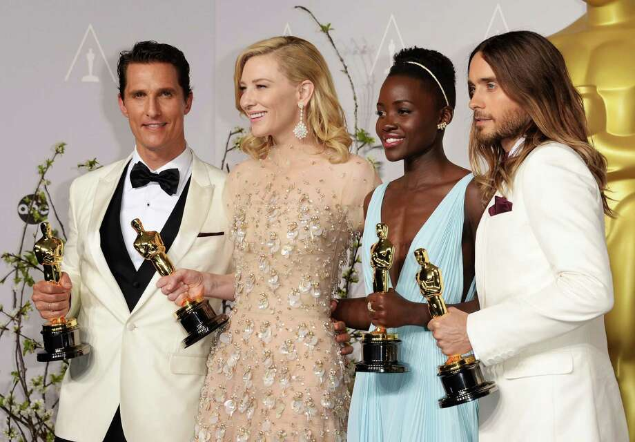 Winners of the top acting awards all made memorable acceptance speeches at Sunday's Academy Awards. From left are Matthew McConaughey, Best Performance by an Actor in a Leading Role; Cate Blanchett, Best Performance by an Actress in a Leading Role; Lupita Nyong'o, Best Performance by an Actress in a Supporting Role; and Jared Leto Best Performance by an Actor in a Supporting Role. Photo: Jason Merritt, Getty Images / 2014 Getty Images