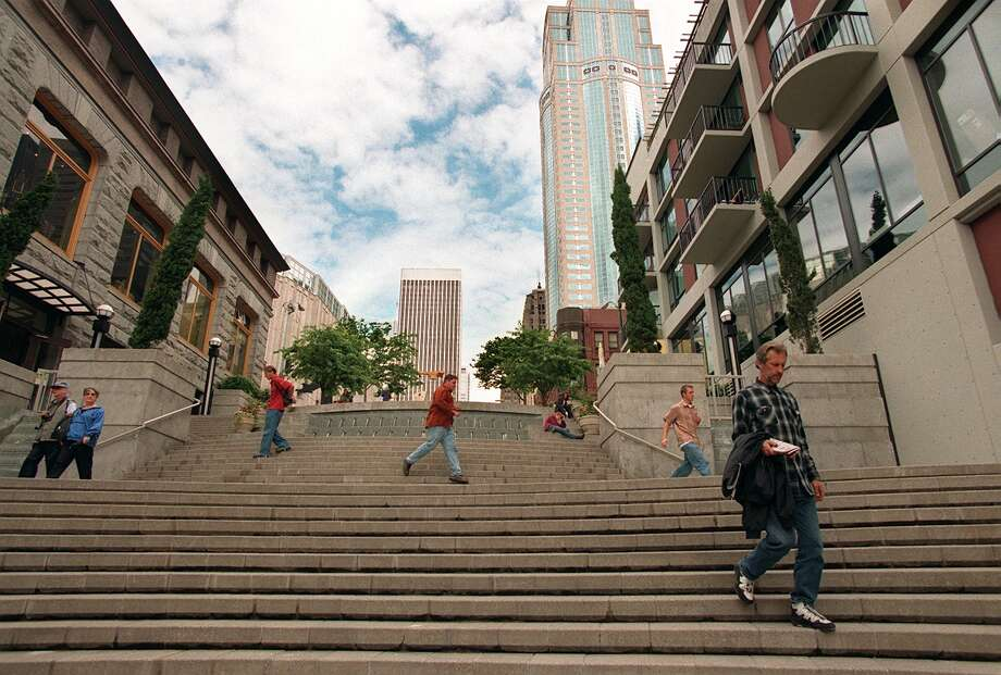 Go: Harbor StepsWhen you return from your ferry excursion, climb the Harbor Steps and grab dinner or drinks in downtown Seattle. Photo: ROBIN LAYTON, Seattlepi.com File Photo
