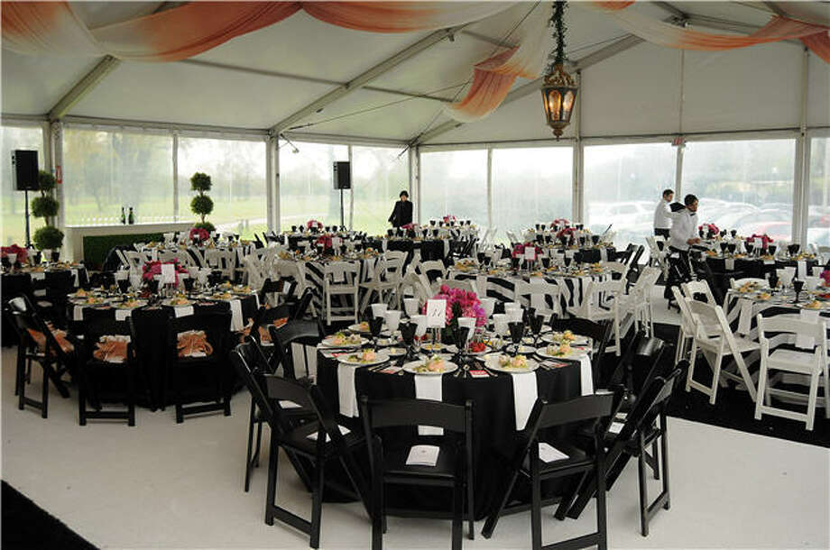The setting in the tent, designed by Todd Events. Photo: Dave Rossman, For The Chronicle