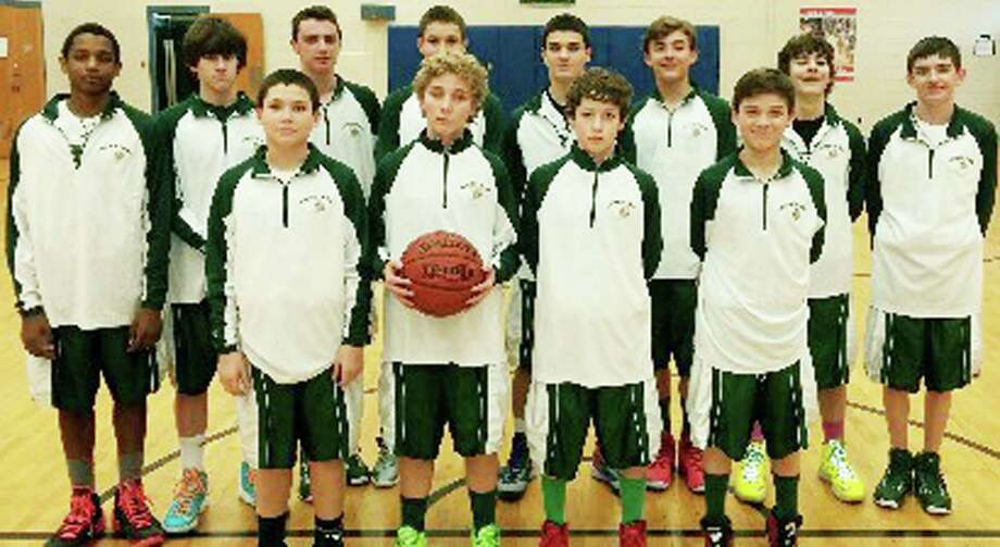 The Schaghticoke Middle School boys' basketball team enjoyed its best season in recent years this winter. Coach David Mumma's hoop quintet raced past eight straight opponents to achieve a perfect 8-0 record. Contributing their talents to the cause were Matt Brevard, Chris Gesualdi, Charlie Osborne, Alec Lubas, Tyler Sullivan, Anthony Trocchio, Austin Swanson, Jimmy Lewis, Hunter Skelly, Eric Habjan, Sean Murphy and Nick Scarcella.   Courtesy of Schaghticoke Middle School Photo: Contributed Photo / The News-Times Contributed