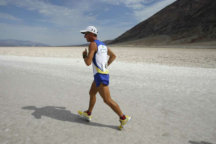 The Badwater Ultramarathon is held in Death Valley National Park where competitors face 120-degree temperatures during the 135-mile course. Photo: ROBYN BECK, AFP/Getty Images / 2007 AFP