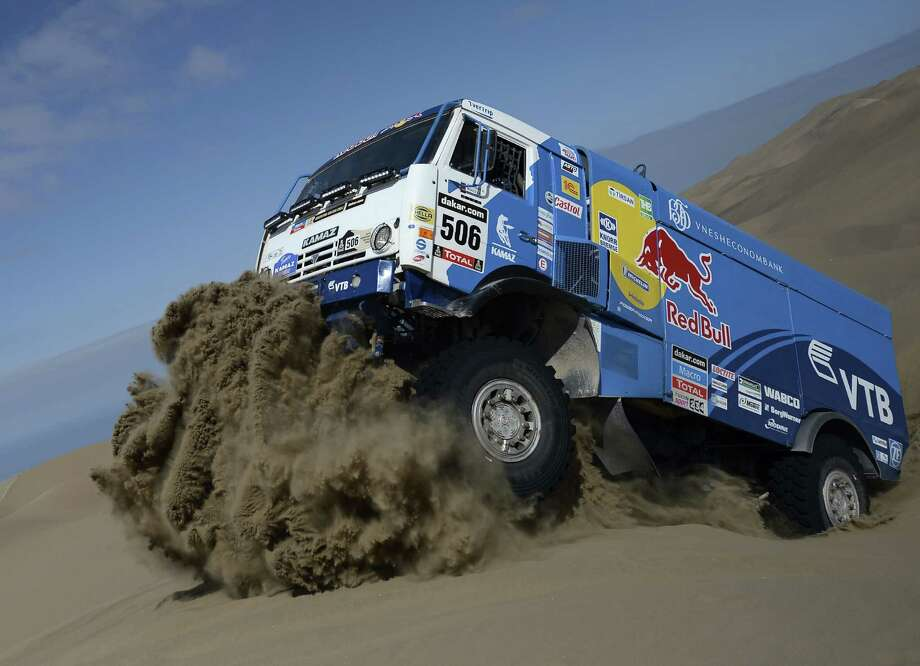 The Dakar Rally traditionally takes rally drivers, motorcyclists, and truck teams from Paris to Dakar, Senegal over all sorts of totally insane terrain, though it's been held in South America for the past few years. Conditions there surely aren't any more forgiving. Photo: FRANCK FIFE, AFP/Getty Images / 2014 AFP