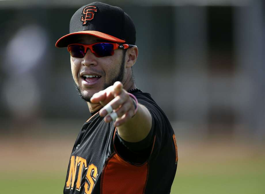 Giants' outfielder Gregor Blanco, (7) during practice at Scottsdale Stadium in Scottsdale, Arizona on Friday Feb. 21, 2014. The San Francisco Giants continue their spring training schedule in the Arizona desert in preparation for the 2014 MBL season. Photo: Michael Macor, The Chronicle
