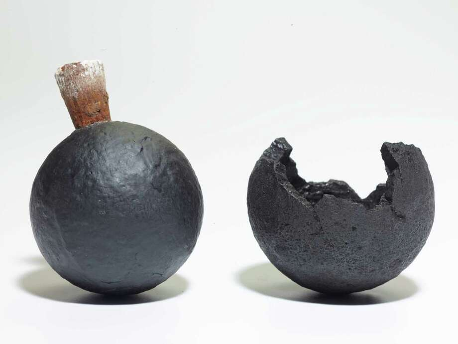 "Grenades from the Whydah are included in National Geographic's touring exhibit, ""Real Pirates: The Untold Story of the Whydah."" Photo: Courtesy Photo / ONLINE_YES"