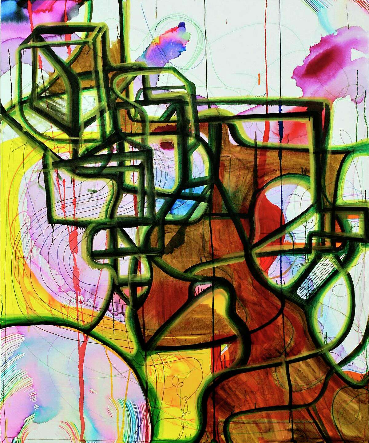 Texas Gallery is presenting the first Houston show of paintings by New York artist Joanne Greenbaum, through March 29.