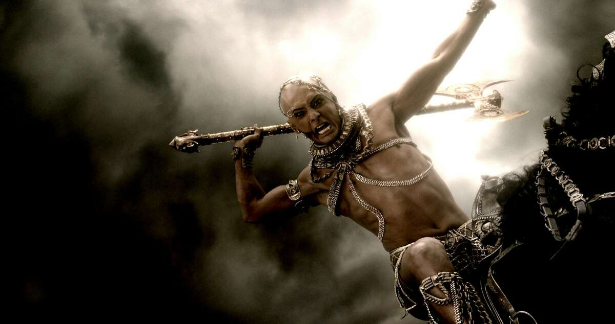 """RODRIGO SANTORO as Xerxes in Warner Bros. Pictures' and Legendary Pictures' action adventure """"300: RISE OF AN EMPIRE,"""" a Warner Bros. Pictures release."""