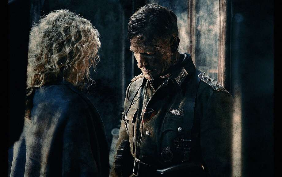 "Yanina Studilina (left) and Thomas Kretschmann in a scene from ""Stalingrad,"" the first 3-D Russian Imax movie and the most artistic use of the Imax process so far. Photo: Associated Press"