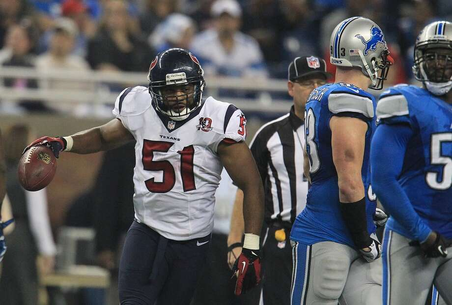 Darryl Sharpton  2013 team: Houston Texans   Age: 26  2013 stats: 87 tackles, 1 forced fumble Photo: Karen Warren, Houston Chronicle