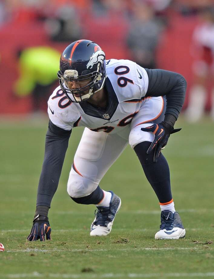 Shaun Phillips  2013 team: Denver Broncos  Age: 32  2013 stats: 35 tackles, 10 sacks, 2 forced fumbles, 1 interception Photo: Peter G. Aiken, Getty Images