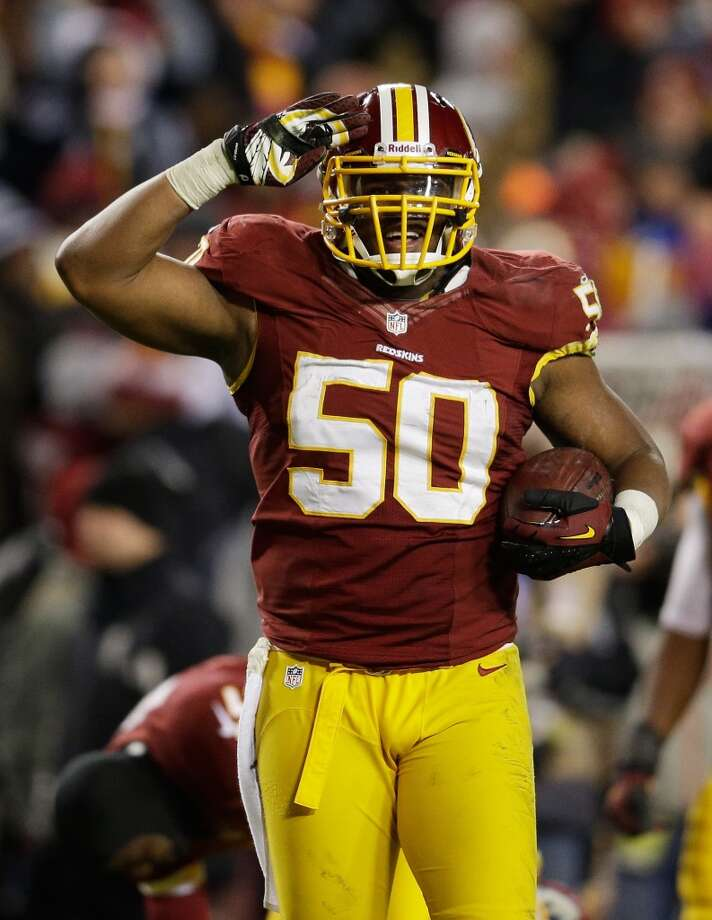 Rob Jackson  2013 team: Washington Redskins  Age: 28  2013 stats: 19 tackles, 2 sacks, 1 interception Photo: Rob Carr, Getty Images