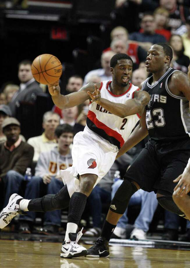 Eric Dawson (right), Sam Houston: Scored nine points and grabbed six rebounds in 31:41 for the Spurs against Portland on Feb. 28, 2012. Dawson is averaging 4.5 points after two games. Photo: Rick Bowmer, Associated Press / AP
