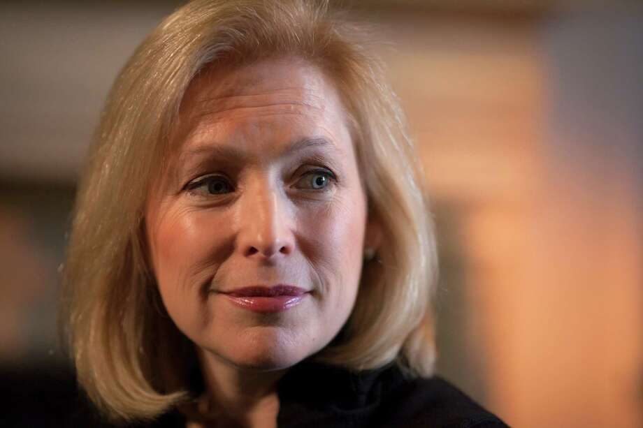 In this Jan. 21, 2014, photo, Sen. Kirsten Gillibrand, D-N.Y., chair of the Senate Armed Services Subcommittee on Personnel , is interviewed by The Associated Press about her proposal to let military prosecutors rather than commanders make decisions on whether to prosecute sexual assaults in the military, in her Capitol Hill office in Washington. The Senate is heading for a showdown over contentious legislation to curb sexual assaults in the military by taking away the authority of senior commanders to prosecute rapes and other serious offenses. A highly anticipated vote on the bill sponsored by Gillibrand, could come as early as Thursday, March 6, 2014.  (AP Photo/J. Scott Applewhite) ORG XMIT: WX112 Photo: J. Scott Applewhite / AP