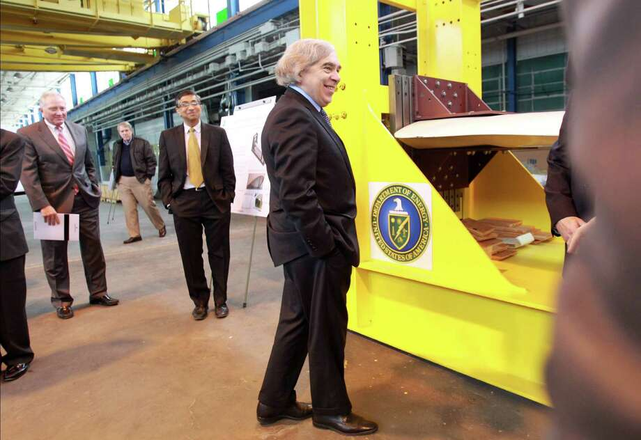 Energy Secretary Ernest Moniz visits the National Wind Energy Center at the University of Houston's Energy Research Park on Wednesday. Photo: Mayra Beltran, Staff / © 2014 Houston Chronicle