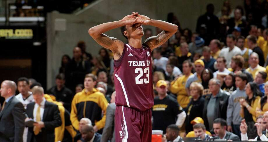 Jamal Jones laments a turnover that contributed to Texas A&M's late collapse Wednesday night. Photo: L.G. Patterson, FRE / FR23535 AP