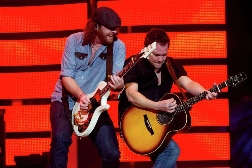 Eli Young Band performs at Reliant Stadium during the Houston Livestock Show and Rodeo, Wednesday, M