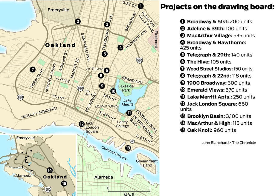 Housing Development Projects on the drawing board in Oakland Photo: John Blanchard / The Chronicle