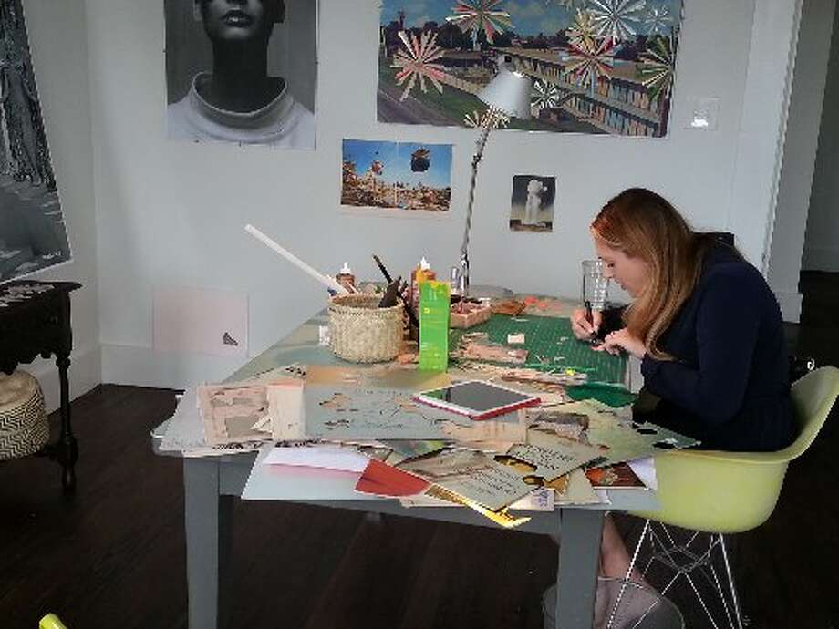 Kelly O'Connor at work in her studio. Photo: Emily Spicer, San Antonio Express-News