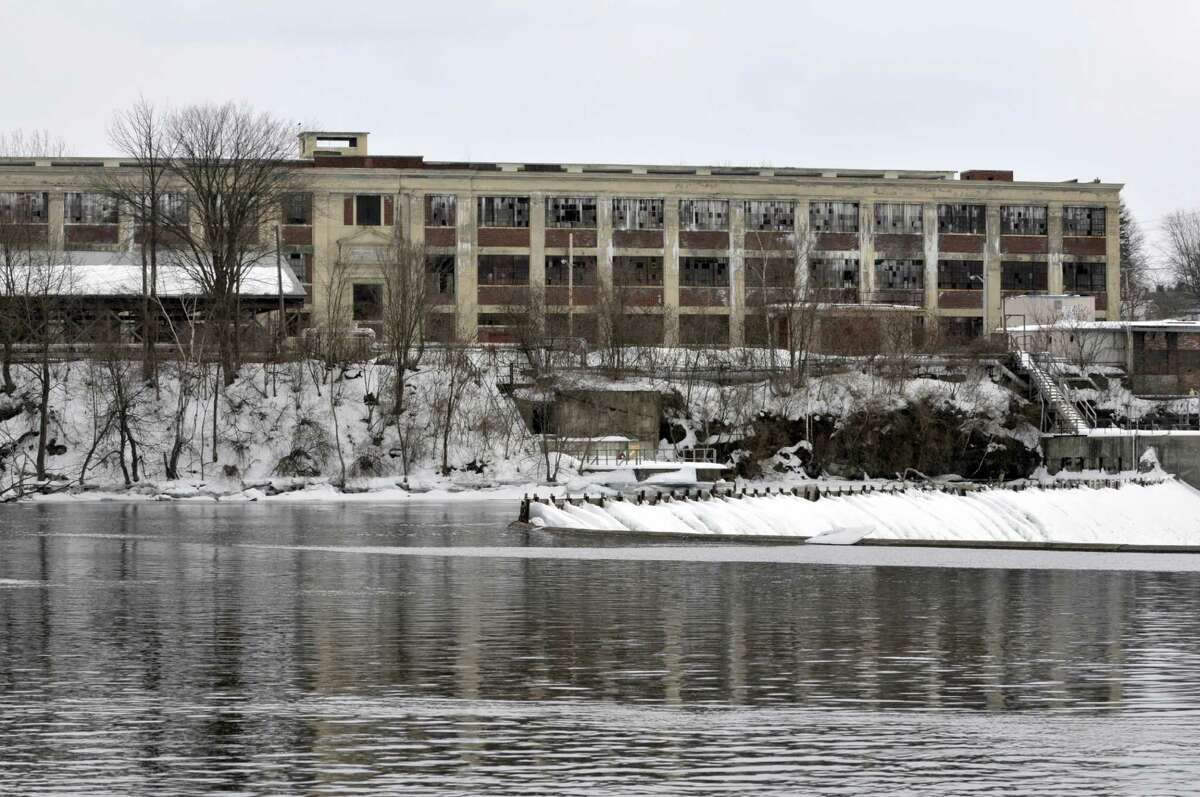 A view of the former GE plant near the Hudson River on March 25, 2014 in Hudson Falls, NY. (Paul Buckowski / Times Union)