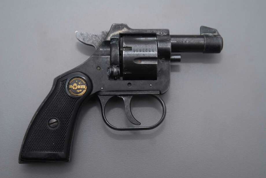 Handgun police say Henry Smalls threw from him during a March 6 chase. (Albany police photo)