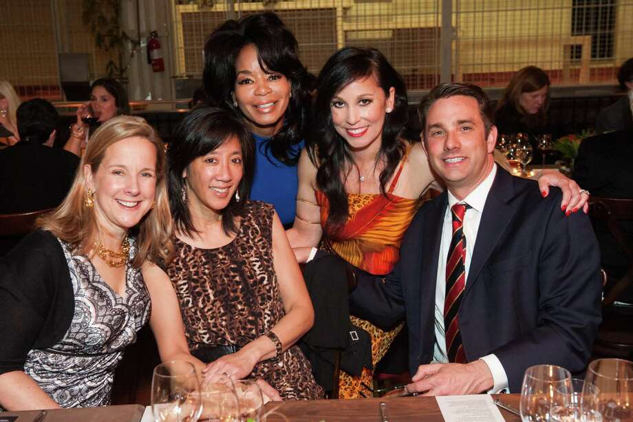 Marie Crouch, Teresa Wong-Jones, Michelle Renee, Michelle Molfino and Terence Jones at Zootopia 2014 in the San Francisco Zoo's historic Lion House on February 26, 2014. Photo: Susana Bates For Drew Altizer, Drew Altizer Photography / Drew Altizer Photography