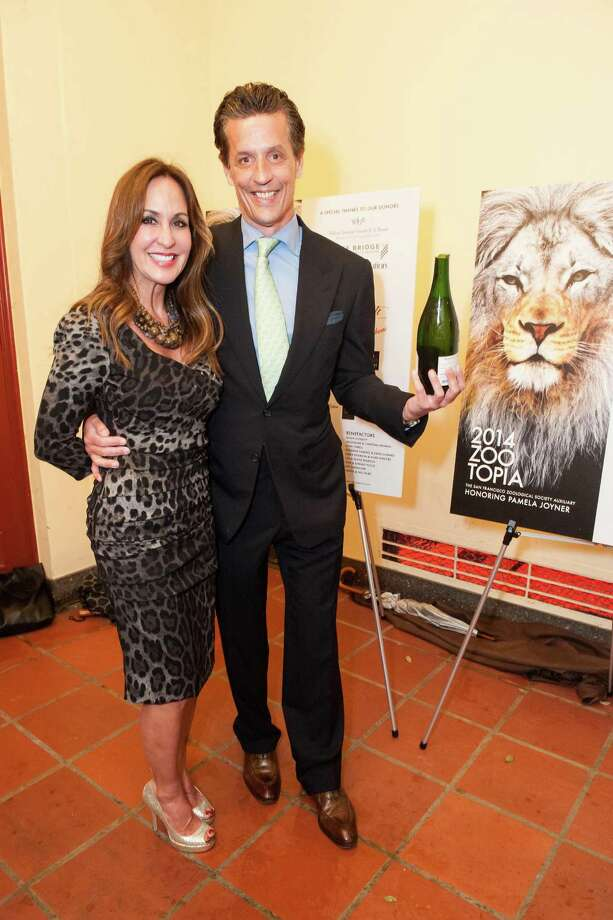 Roxanne Fleming and David Soward at Zootopia 2014 in the San Francisco Zoo's historic Lion House on February 26, 2014. Photo: Susana Bates For Drew Altizer, Drew Altizer Photography / Drew Altizer Photography
