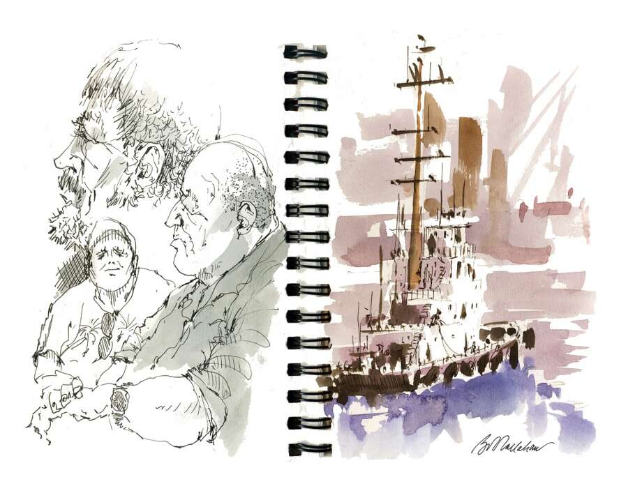 "Stamford watercolorist Bob Callahan's ""Art of the Sketchbook"" opens this week at the Mayor's Gallery, 10th Floor, Government Center, 888 Washington Blvd., Stamford. Gallery is open weekdays."