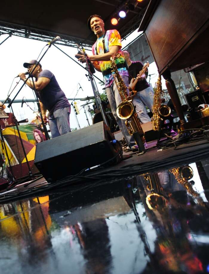 "Charles Neville, center, seen here during a previous performance in Connecticut, returns to the state this weekend for a ""Mardi Gras! A Taste of New Orleans and the Blues"" performance on Saturday, March 8, at 8 p.m. with Connecticut native Jeff Pritchell at the Palace Danbury, 165 Main St., Danbury. Tickets: $25 to $30. 203-794-9944, thepalacedanbury.com. Photo: File Photo, ST"