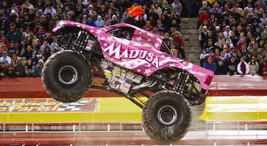 See female monster truck driver Madusa crush gender barriers – and the competition – at Monster Jam at Webster Bank Arena, 600 Main St. on Friday, March 7 at 7:30 p.m.; Saturday, March 8 at 2 and 7:30 p.m. and Sunday, March 9 at 2 p.m. $25 adults, $12 kids ages 2-12.. Special event: Party in the Pits, Sat, Sun, both days at 11 a.m. Pit Party passes are $10 in advance and day of show. websterbankarena.com. Photo: KENNY LAU / KENNY LAU