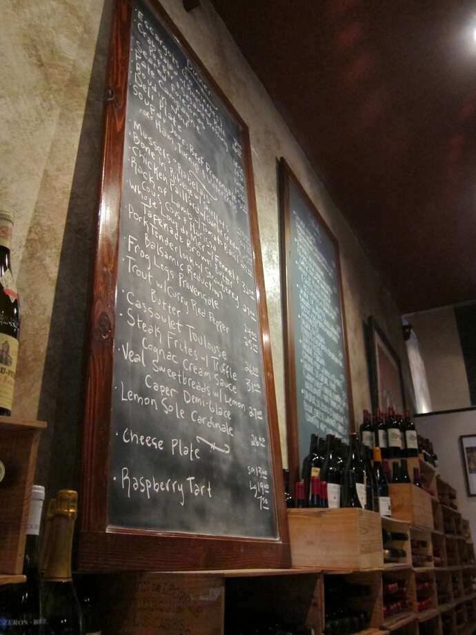 The blackboard menus at Cafe Rabelais in Rice Village. Photo: Alison Cook