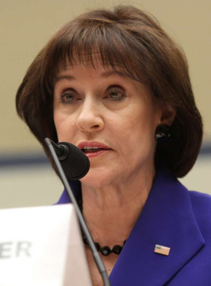 Former Internal Revenue Service (IRS) official Lois Lerner speaks on Capitol Hill in Washington, Wednesday, March 5, 2014, during the House Oversight and Government Reform Committee hearing on the the agency's targeting of tea party groups, where she invoked her constitutional right not to incriminate herself.  (AP Photo/Lauren Victoria Burke) Photo: Lauren Victoria Burke, Associated Press