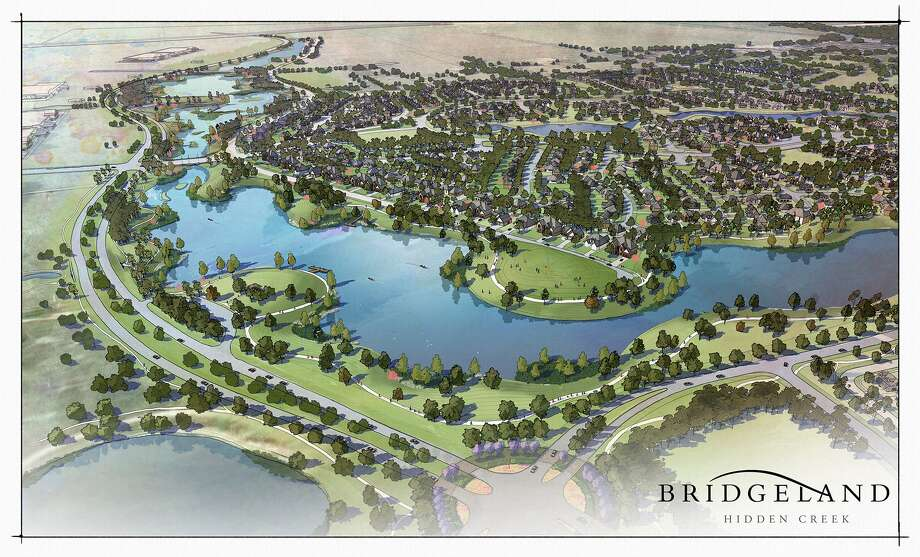 Hidden Creek will have a waterway that will offer a three-mile stretch for canoeing. Prices are expected to run from $200,000 to more than $1 million. Photo: Courtesy Of Bridgeland