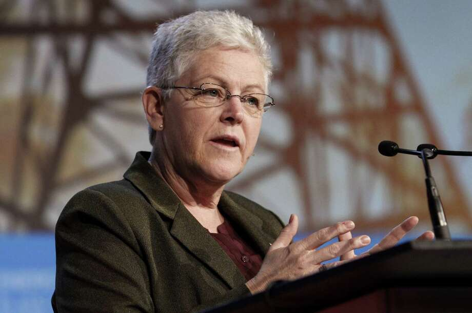 Gina McCarthy, administrator of the Environmental Protection Agency, addressed energy decision-makers in Houston. Photo: F. Carter Smith / Bloomberg / © 2014 Bloomberg Finance LP