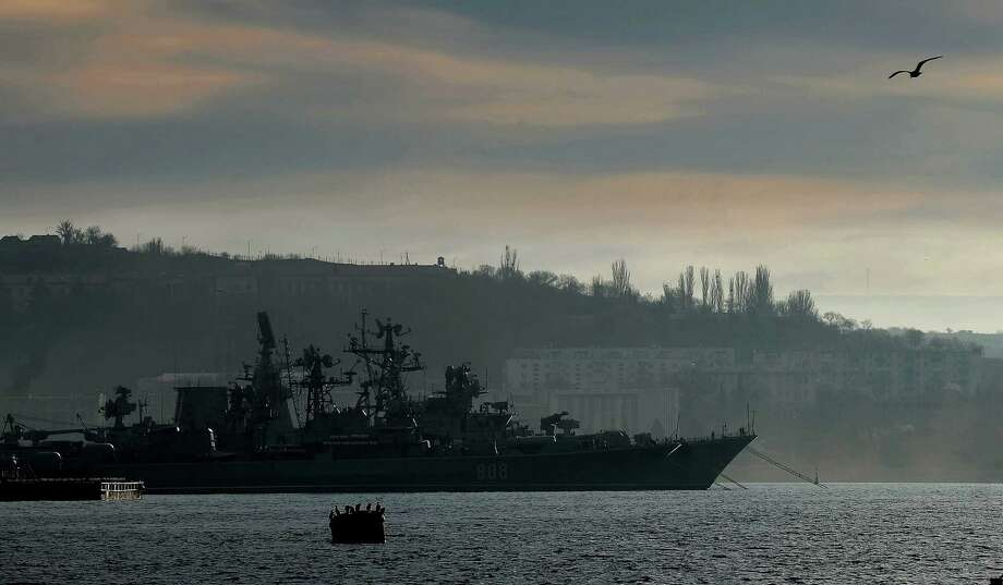 The frigate Pytlivyy is part of the Black Sea Fleet that Russia bases at Sevastopol. The Crimean port has been a major Russian port since the 18th century. Photo: Filippo Monteforte / Getty Images / AFP