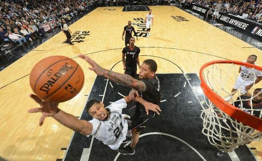 Tim Duncan and the Spurs will host Orlando tonight, two days after handing Miami its worst loss of the season. Photo: Dan McCarney, San Anttonio Express-News